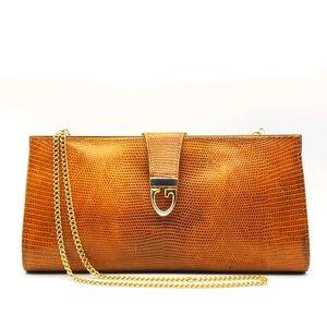 HP🤗 Gucci Vintage Lizard Skin Handbag